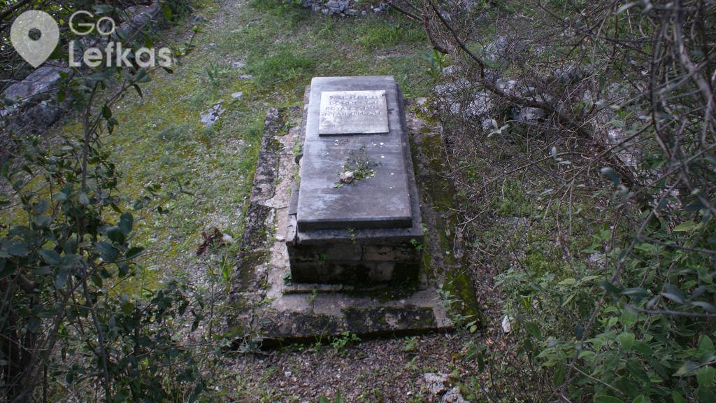 The grave of Wilhelm Dörpfeld at that cape of Agia Kyriaki.