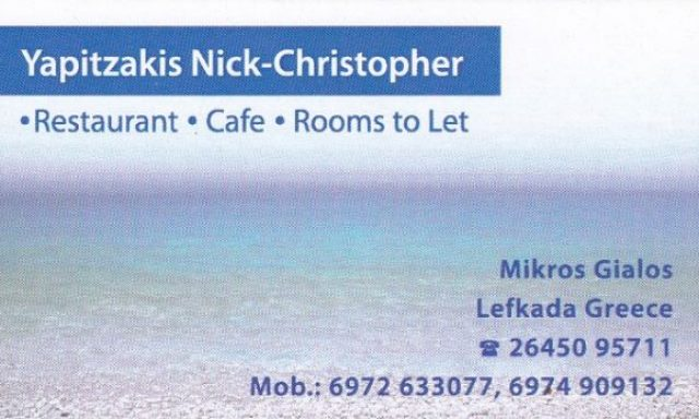 Yapitzakis Nick – Christopher
