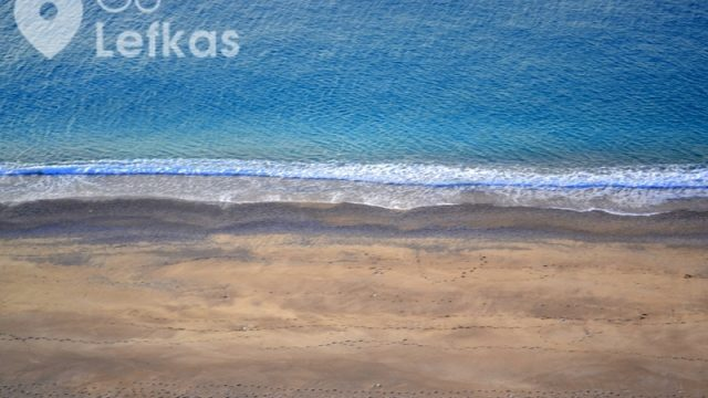 Mylos (Milos) beach in west coast of Lefkada