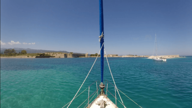 Navigating the Lefkas Canal
