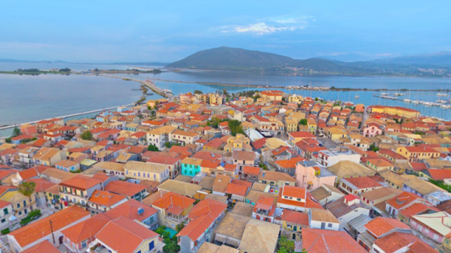 The town of Lefkas in 360ᵒ