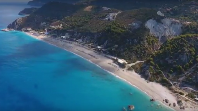 """Kathisma – The """"must visit"""" beach in Lefkas – drone video"""