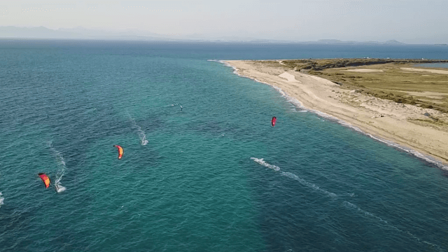 Kitting above the bluest water – Lefkada – Miloi beach – drone video